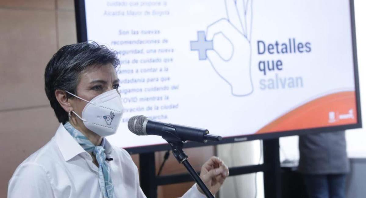 """Claudia López presenta la campaña """"Detalles que salvan"""". Foto: Alcaldía de Bogotá"""