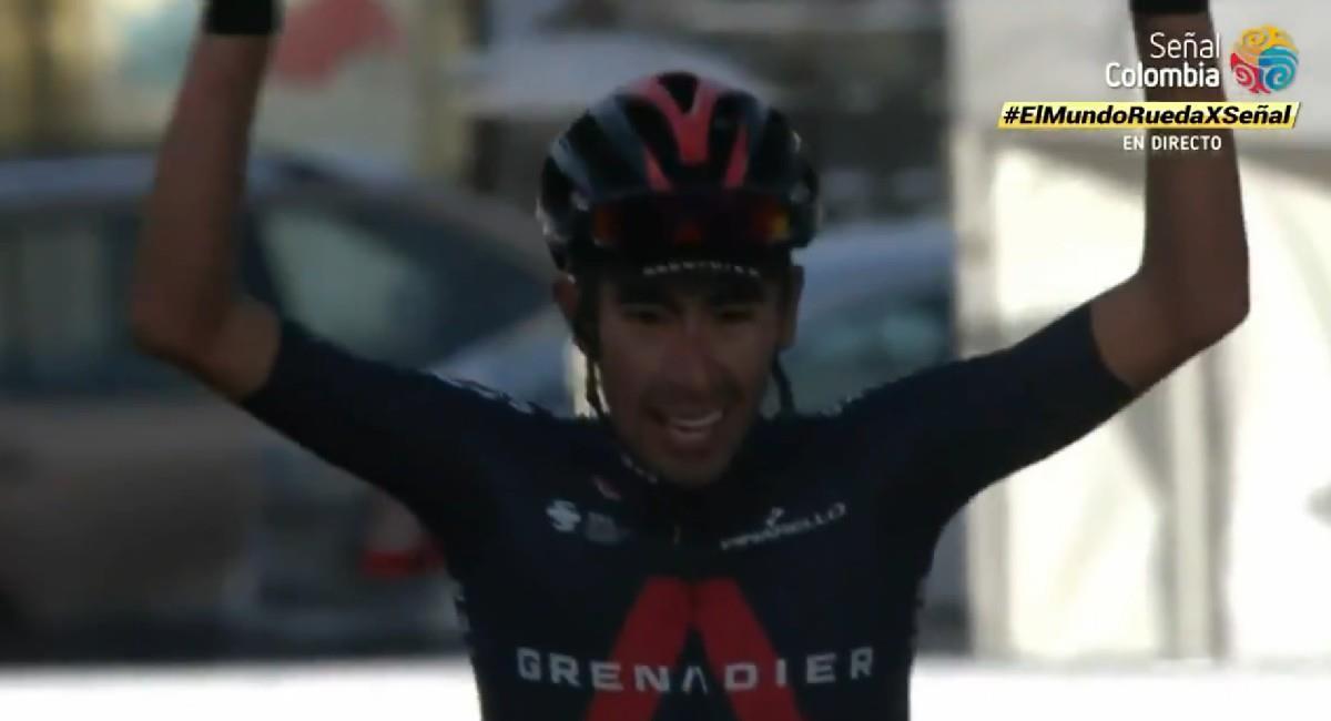 Iván Sosa gana la tercera etapa del Tour de la Provenza. Foto: Twitter @SenalDeportes