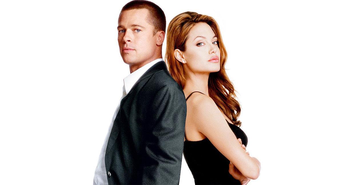 "Brad Pitt y Angelina Jolie protagonizaron en 2022 ""Sr y Sra Smith"". Foto: Twitter @ecartelera"