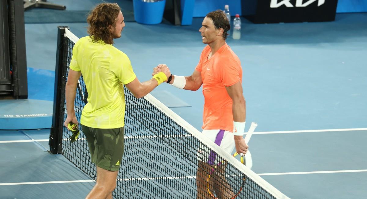 Rafael Nadal cayó en el Abierto de Australia ante Tsitsipas. Foto: Twitter @AustralianOpen