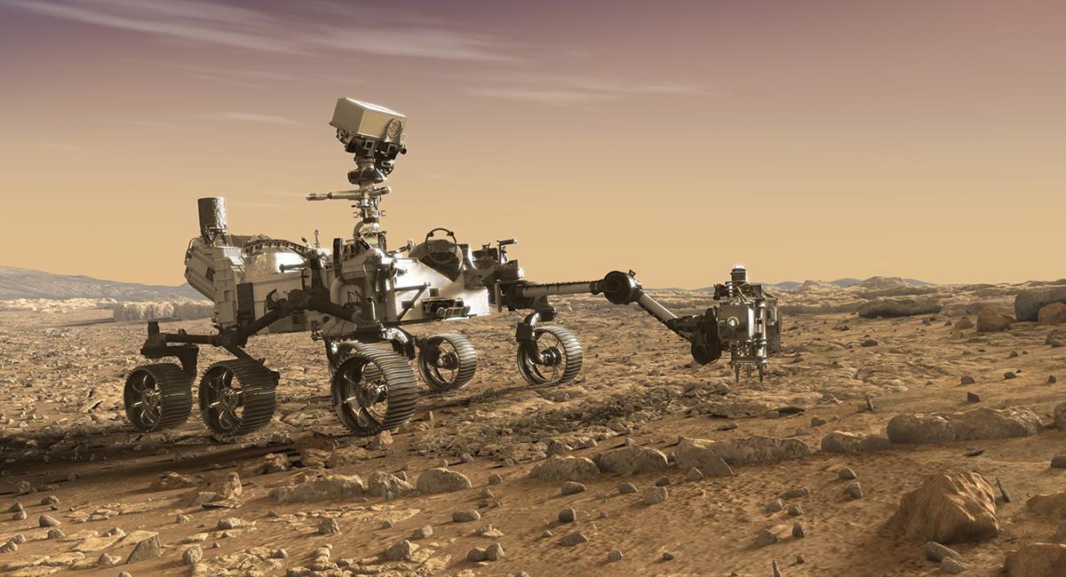 El rover 'Perseverance' llegará este jueves al suelo marciano. Foto: Twitter @NASA