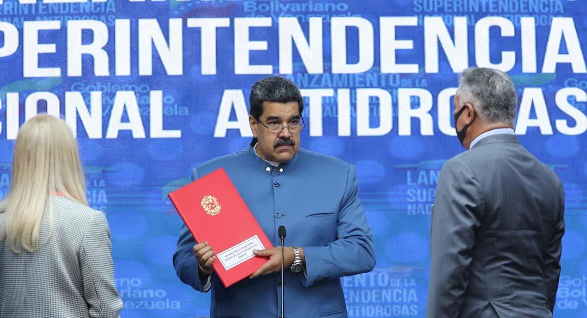 Nicolás Maduro durante el acto de oficialización de la superintendencia antidrogas. Foto: EFE