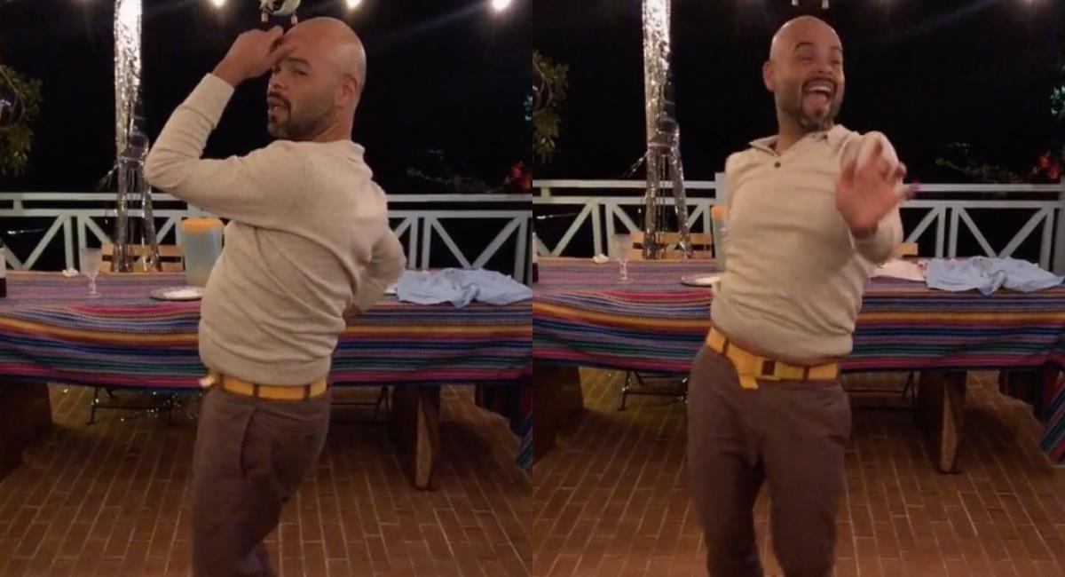 Mostró sus mejores pasos de baile. Foto: TikTok @carlitosvargasm.