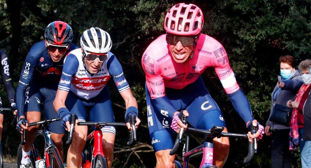 Rigoberto Urán será uno de los colombianos en el Tour de los UAE. Foto: Twitter Prensa redes Rigoberto Urán.