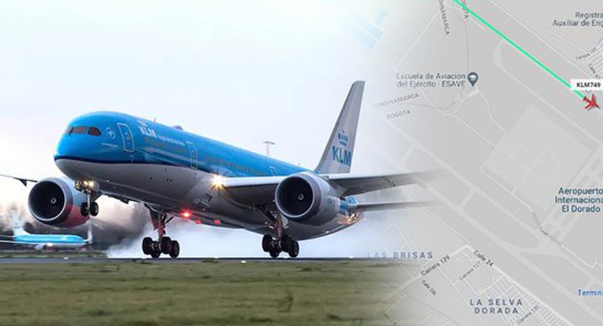 Las 192.000 vacunas chinas del laboratorio Sinovac arribaron a Bogotá en un vuelo de KLM, aerolínea de los Países Bajos. Foto: Twitter @EdnaJaramillotv
