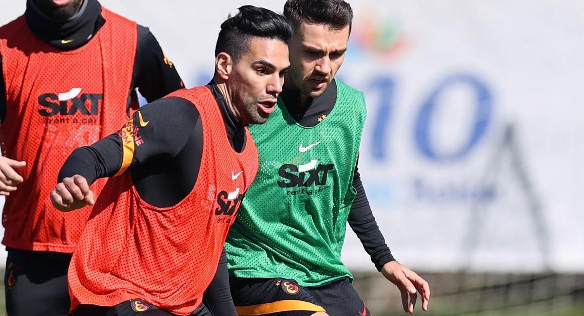 Falcao García en entrenamientos con Galatasaray. Foto: Twitter @Galatasaray