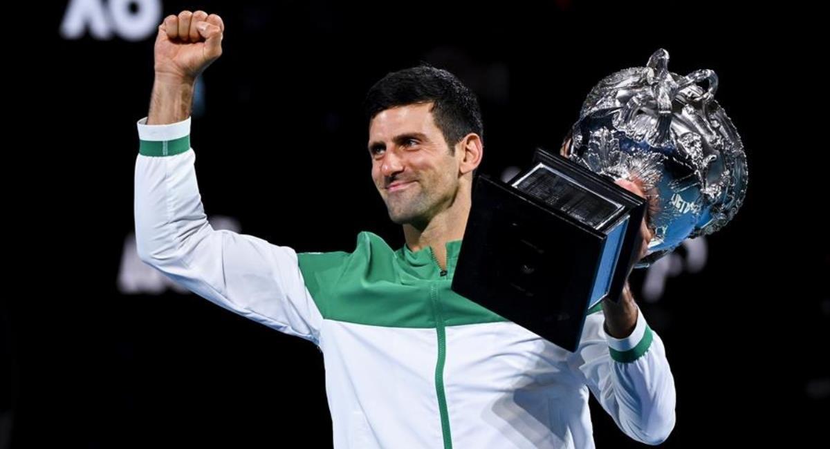 Novak Djokovic campeón de Australia. Foto: EFE