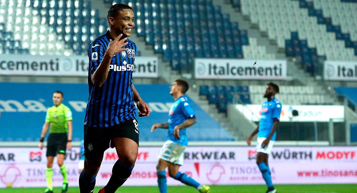 Luis Fernando Muriel fue la gran figura en el último partido de Atalanta. Foto: EFE