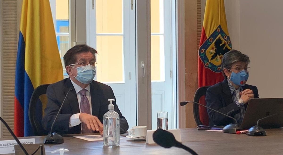 Fernando Ruiz y Claudia López generan tensión por vacunación en la capital. Foto: Twitter @Fruizgomez