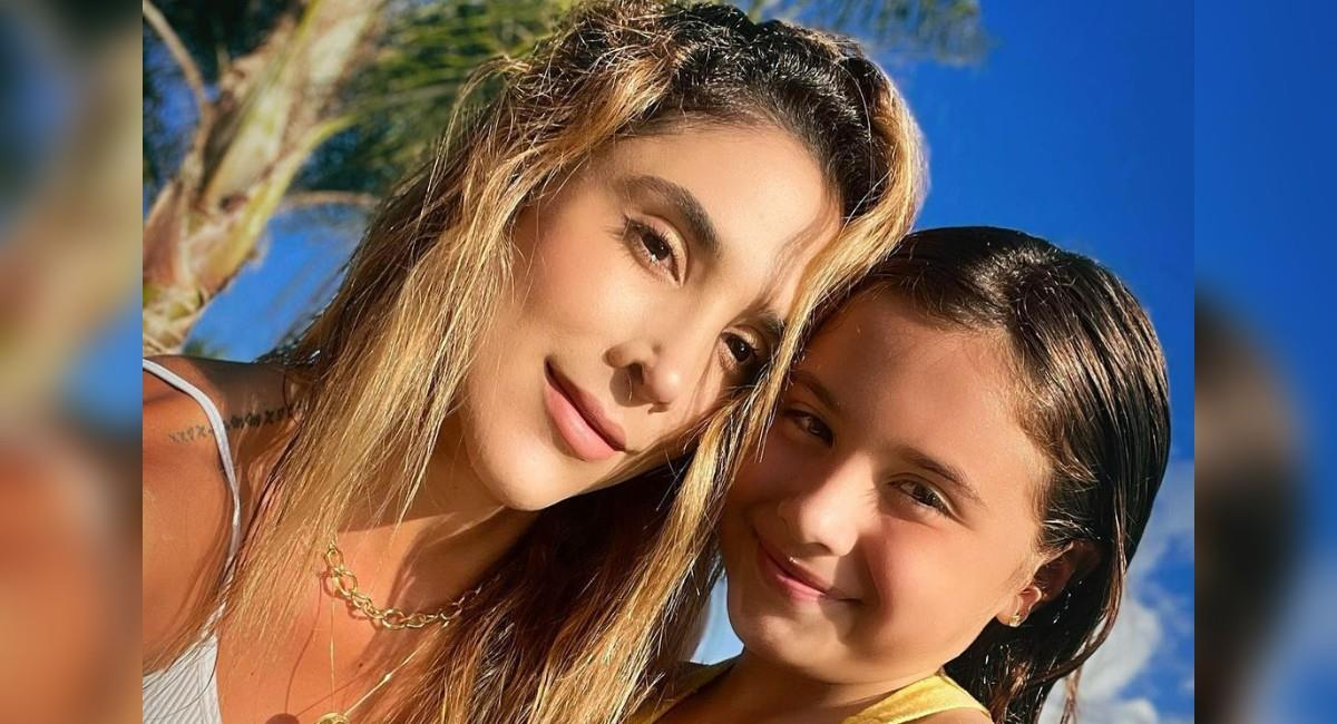 Daniela Ospina junto a su hija Salomé Rodríguez Ospina. Foto: Instagram