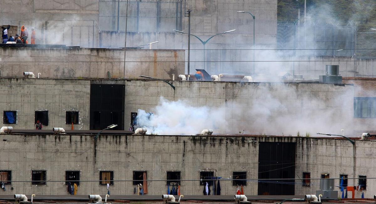 Presos se disputan el mando de las cárceles en Ecuador. Foto: Twitter @Guioteca
