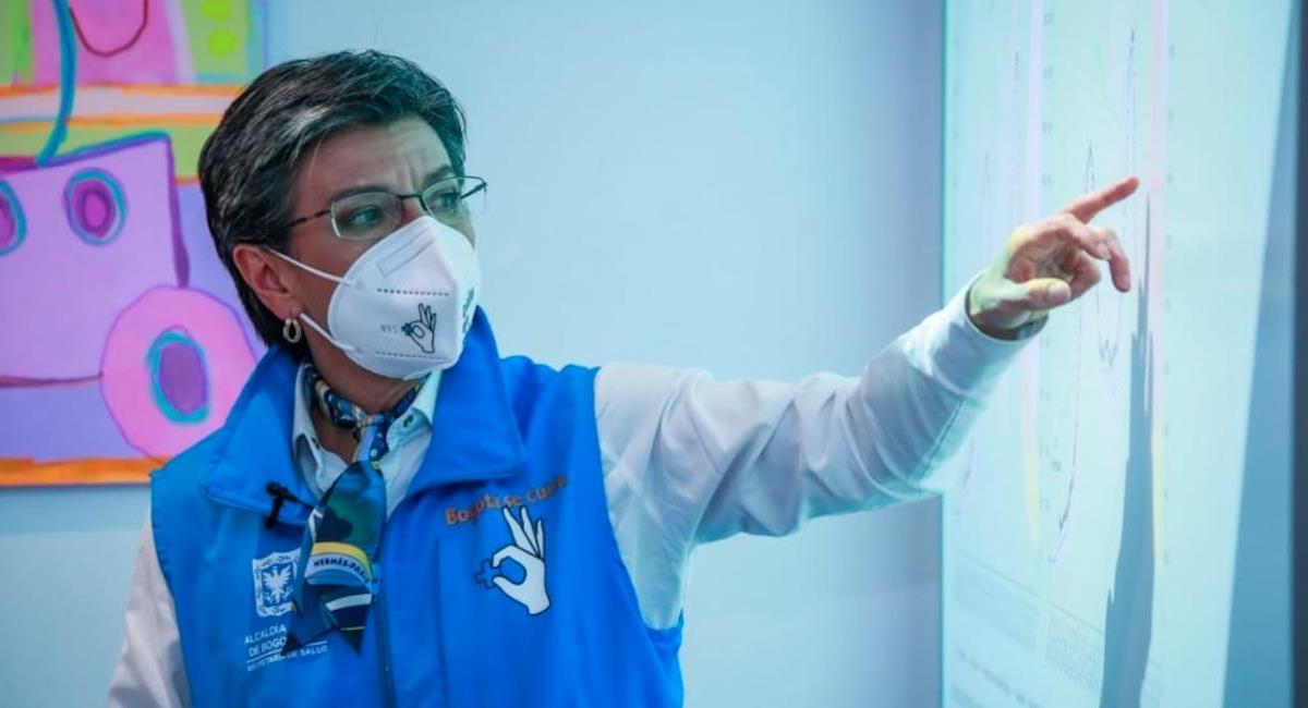 Claudia López confirmó que llegaran 13.008 dosis de la vacuna de Pfizer a la capital. Foto: Alcaldía de Bogotá
