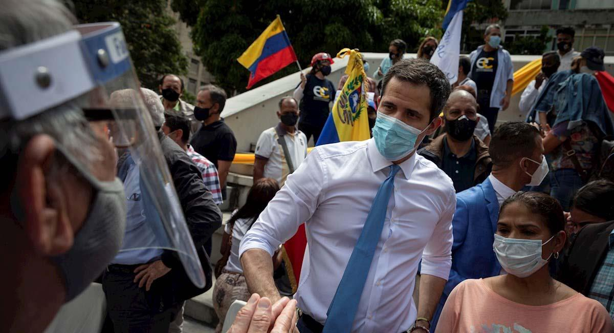 Juan Guaidó durante un evento público en Venezuela. Foto: EFE