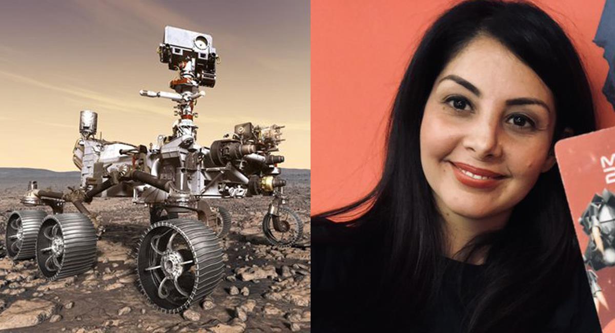 La ingeniera colombiana, Diana Trujillo, lidera un equipo de la Nasa que explora con un robot el planeta rojo, Marte. Foto: Twitter @NASAPersevere / @NASA_es
