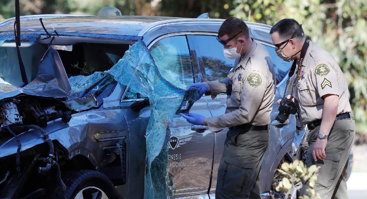 Así quedó el carro de Tiger Woods tras el accidente que sufrió. Foto: EFE