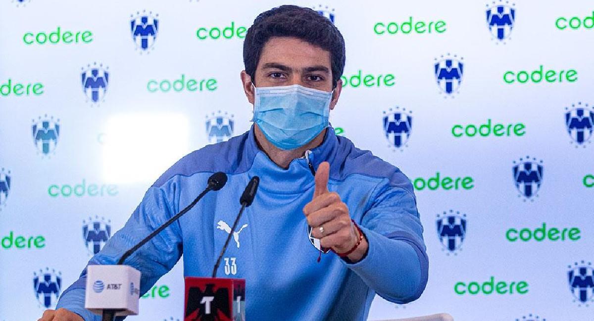 Stefan Medina, jugador colombiano en Rayados de Monterrey. Foto: Twitter @Rayados