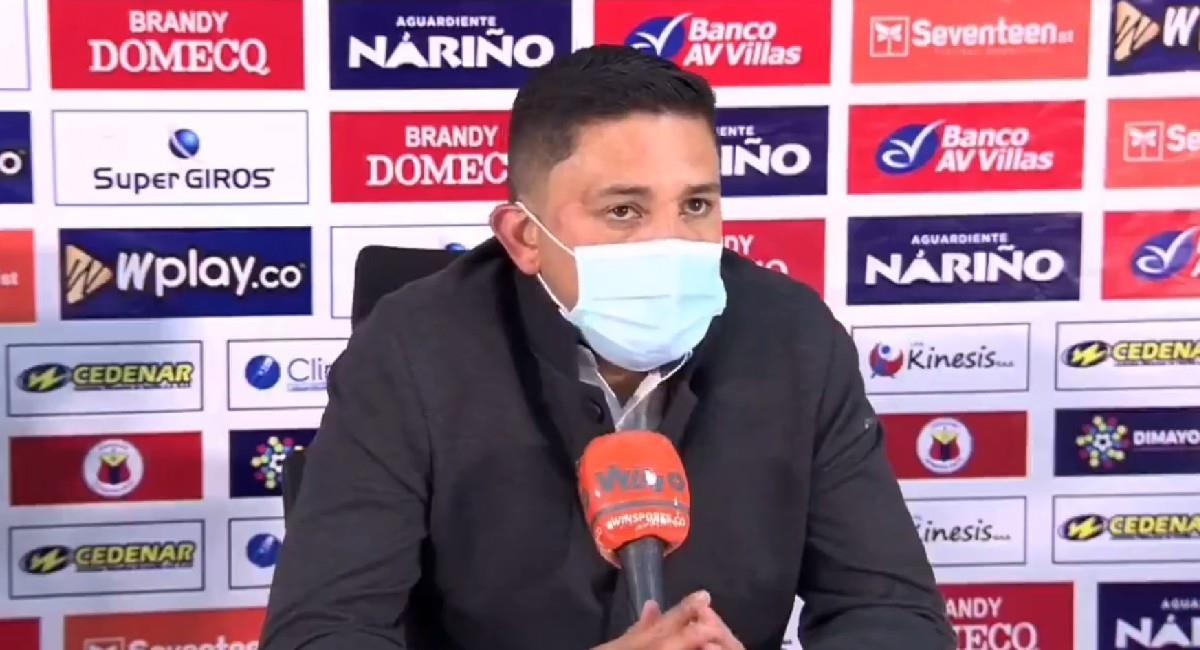 Diego Corredor, técnico de Deportivo Pasto. Foto: Twitter @DeporPasto