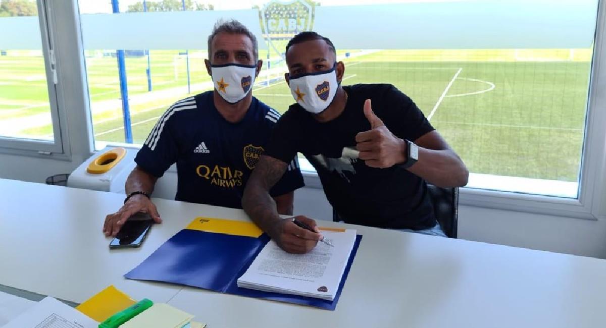 Sebastián Villa seguirá vistiendo la camiseta de Boca Juniors. Foto: Twitter @BocaJrsOficial