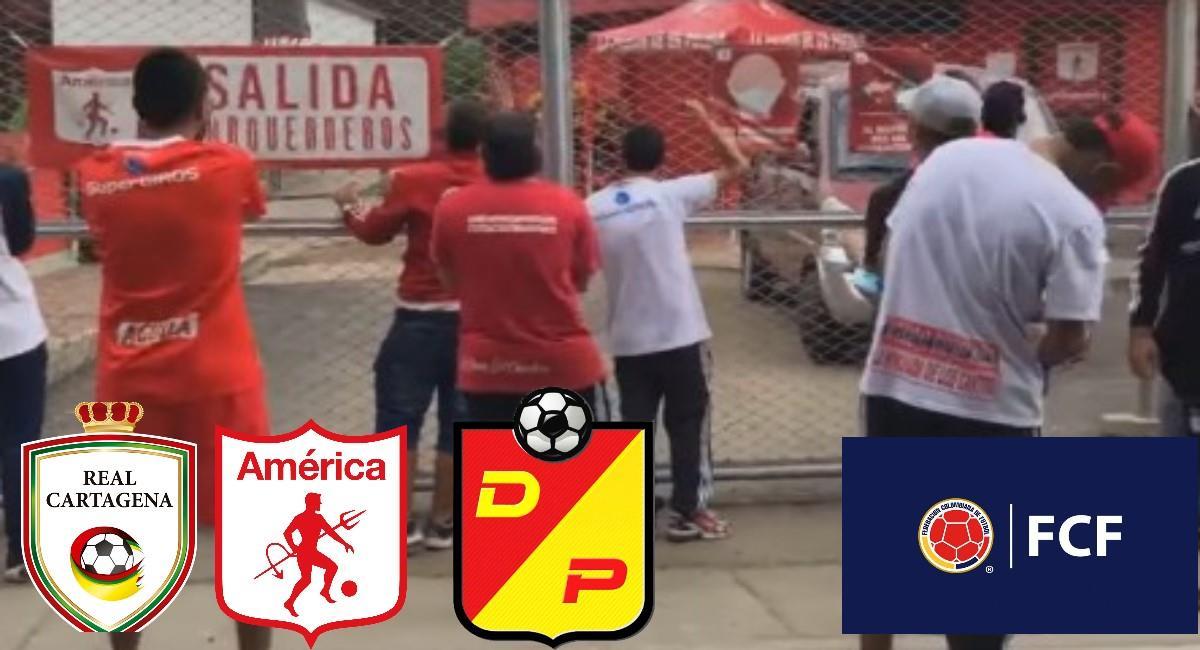 FCF se pronunció por amenazas en el fútbol colombiano. Foto: Facebook Captura pantalla La Banda del Diablo