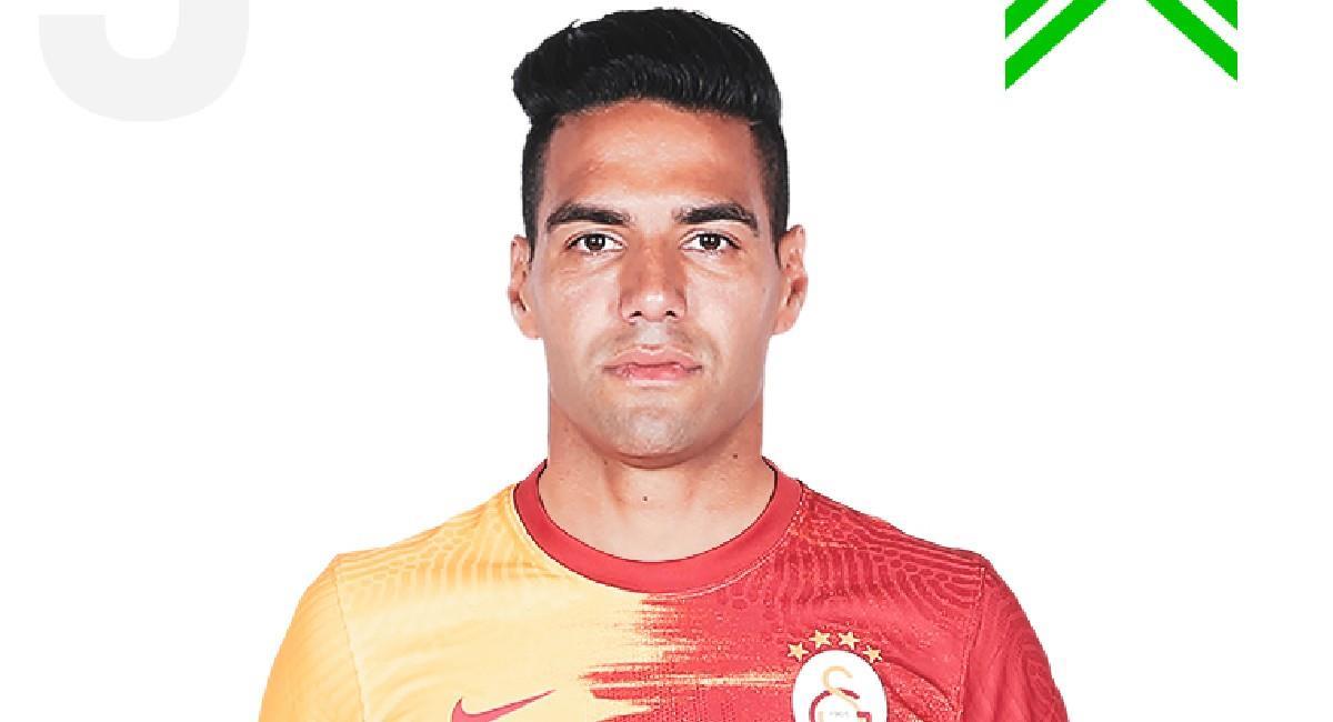 Falcao García ingresó en el minuto 86 del partido. Foto: Twitter @GalatasaraySK