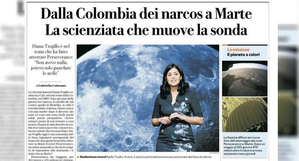 Portada de la noticia publicada por La Repubblica de Italia. Foto: Twitter