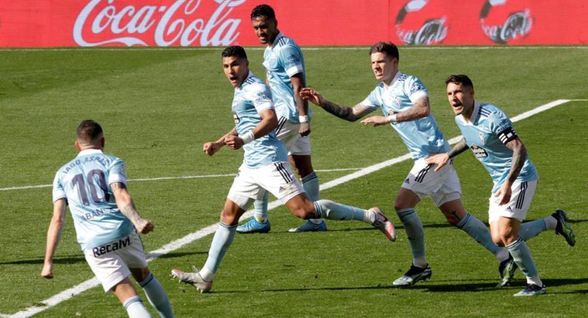 Jeison Murillo le da el empate al Celta de Vigo. Foto: EFE