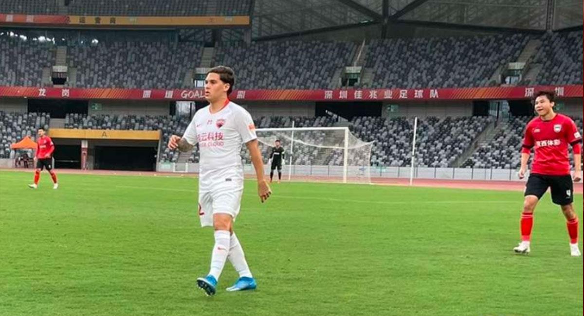 Juan Fernando Quintero volvió a jugar tras casi un año de inactividad. Foto: Instagram @fcshenzhen
