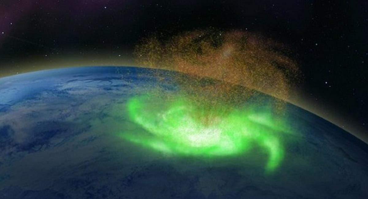La imagen fue realizada por los expertos que lograron dar con la formación de este atípico huracán. Foto: Twitter @Stacfaste