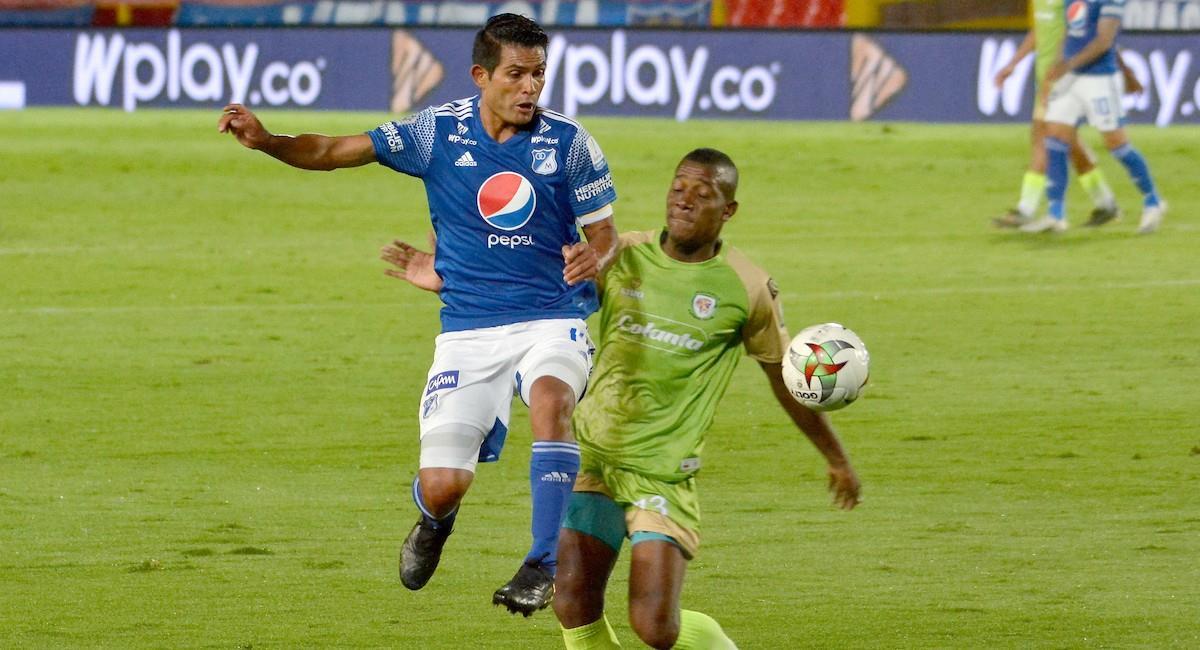 Millonarios cayó en El Campín ante Jaguares. Foto: Twitter @Dimayor