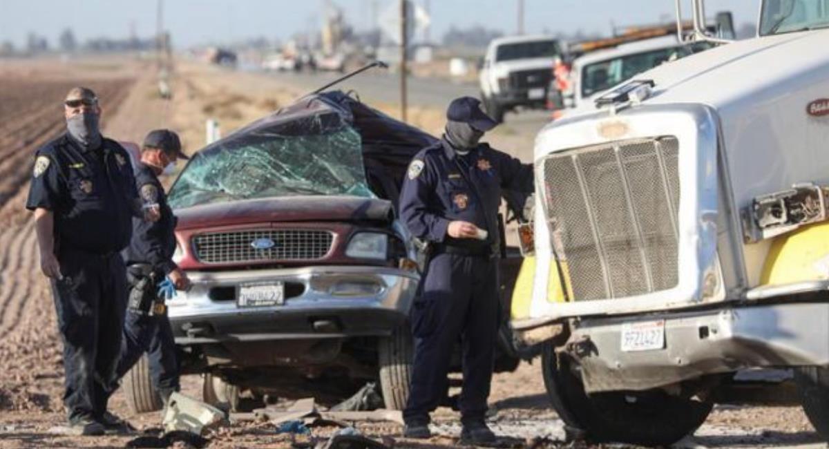 Accidente en California deja 15 muertos. Foto: EFE
