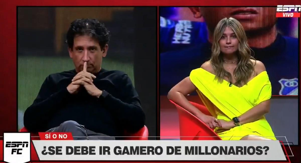 Andrea Guerrero y Antonio Casale en el programa ESPN FC. Foto: Twitter @ESPNColombia