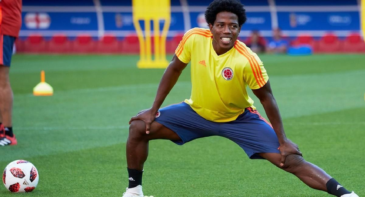 Carlos 'La Roca' cuando vistió la camiseta de la Selección Colombia. Foto: Twitter @FCFSeleccionCol