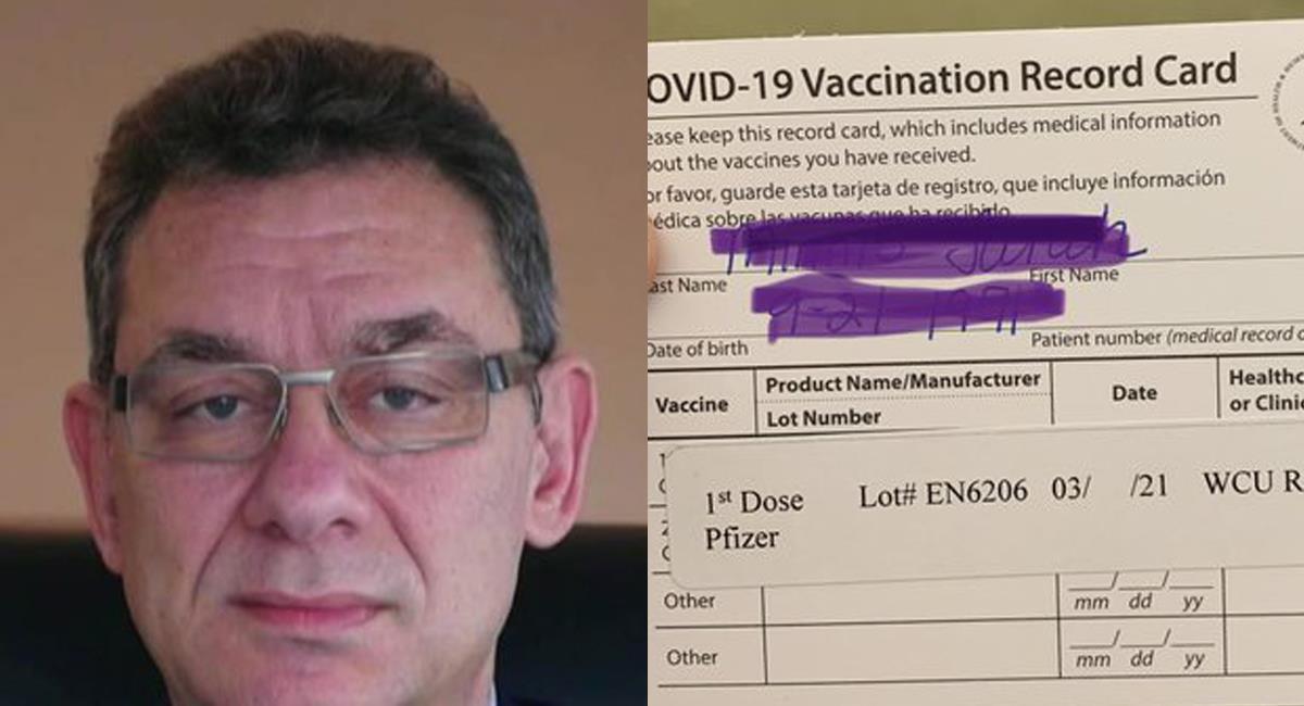 Albert Bourla, CEO de la multinacional Pfizer, ha cancelado su visita a Israel, porque no ha recibido la segunda dosis de la vacuna contra la COVID-19. Foto: Twitter @NBCOUT / @dr_seminnis