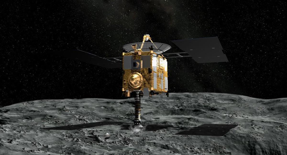 Los elementos orgánicos se mantuvieron dentro del asteroide. Foto: Twitter @Haya2e_jaxa