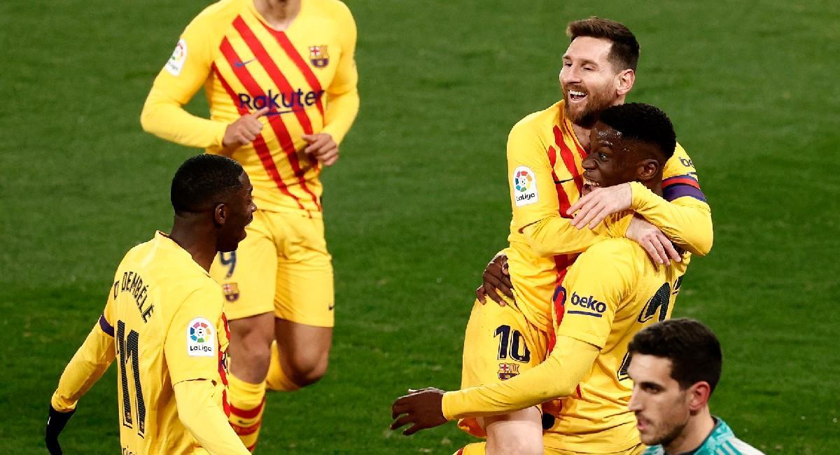 Lionel Messi en el partido ante Osasuna. Foto: EFE