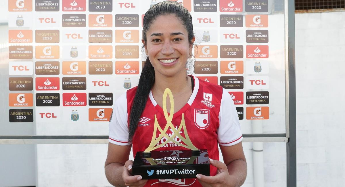 Fany Gauto fue galardonada como la jugadora del partido. Foto: Twitter @LibertadoresFEM