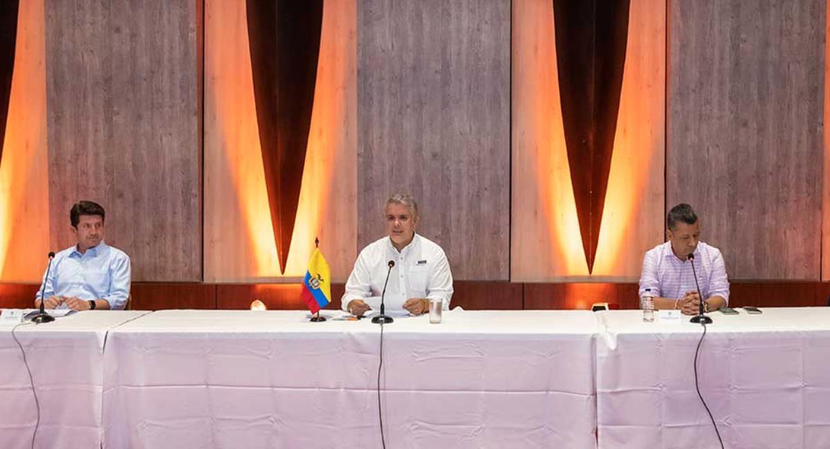 Duque aseguró que Colombia tiene el respaldo de Francia para desarrollar la vacuna. Foto: Presidencia de Colombia