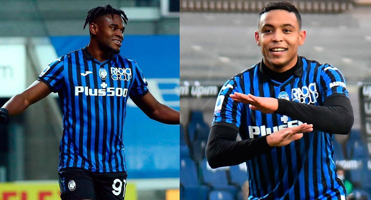 Duván Zapata y Luis Muriel son los dos máximos goleadores de Atalanta en la temporada. Foto: EFE