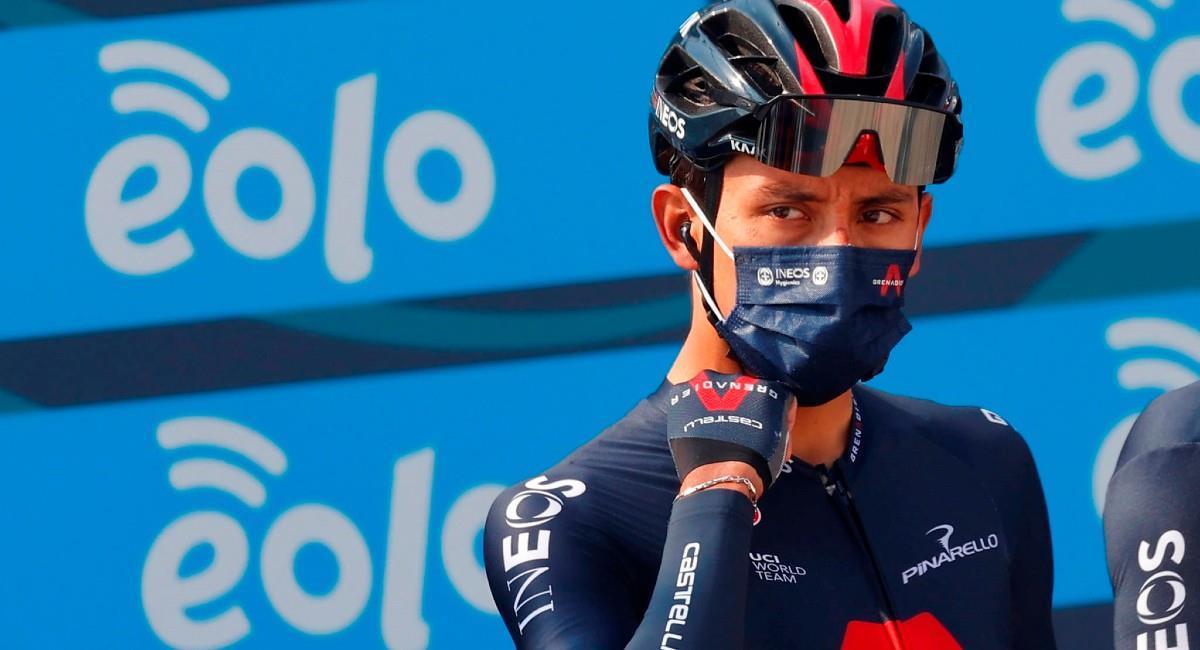 Egan Bernal en la Tirreno Adriático. Foto: EFE