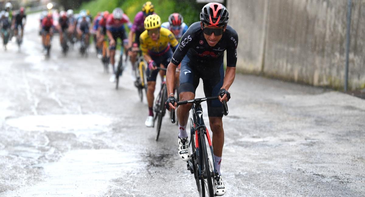 Egan llegó quinto en la etapa 5 de la Tirreno Adriático. Foto: Twitter Prensa redes Ineos.