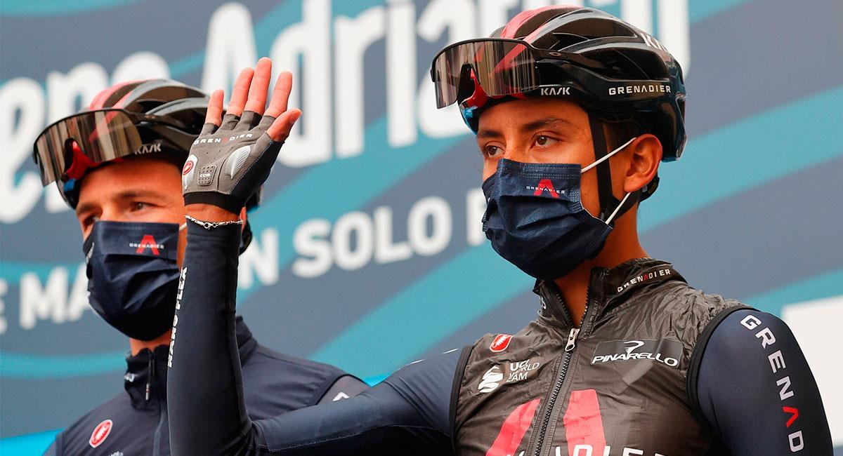 Egan Bernal ocupa la cuarta casilla en la Tirreno-Adriático. Foto: EFE