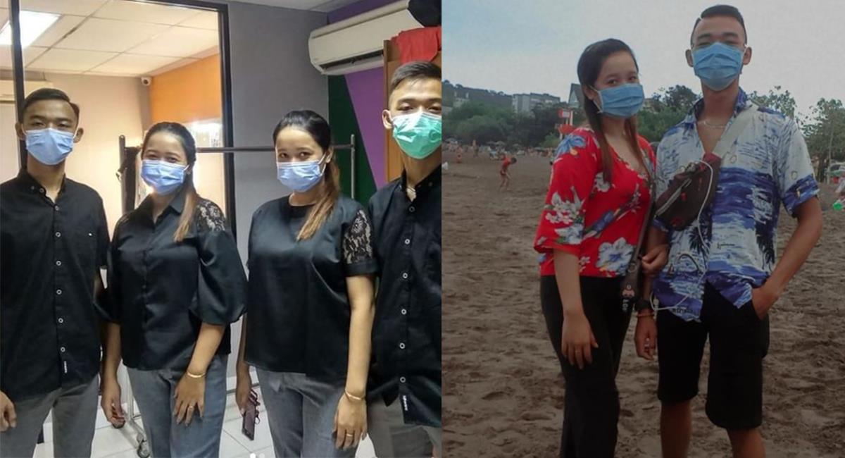 """Ambas parejas son de Indonesia, y se han vuelto unas """"celebridades"""". Foto: Twitter @Ellwindi_jlnfi"""