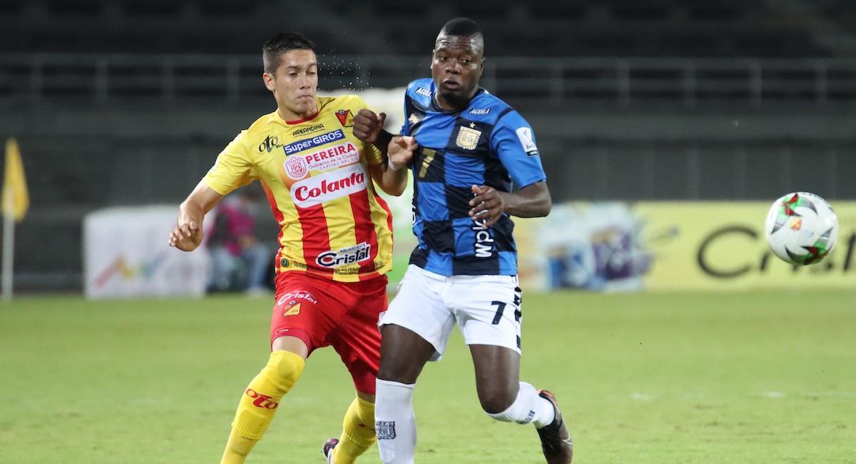 El partido entre Pereira y Boyacá Chicó terminó igualado sin goles. Foto: Twitter @Dimayor