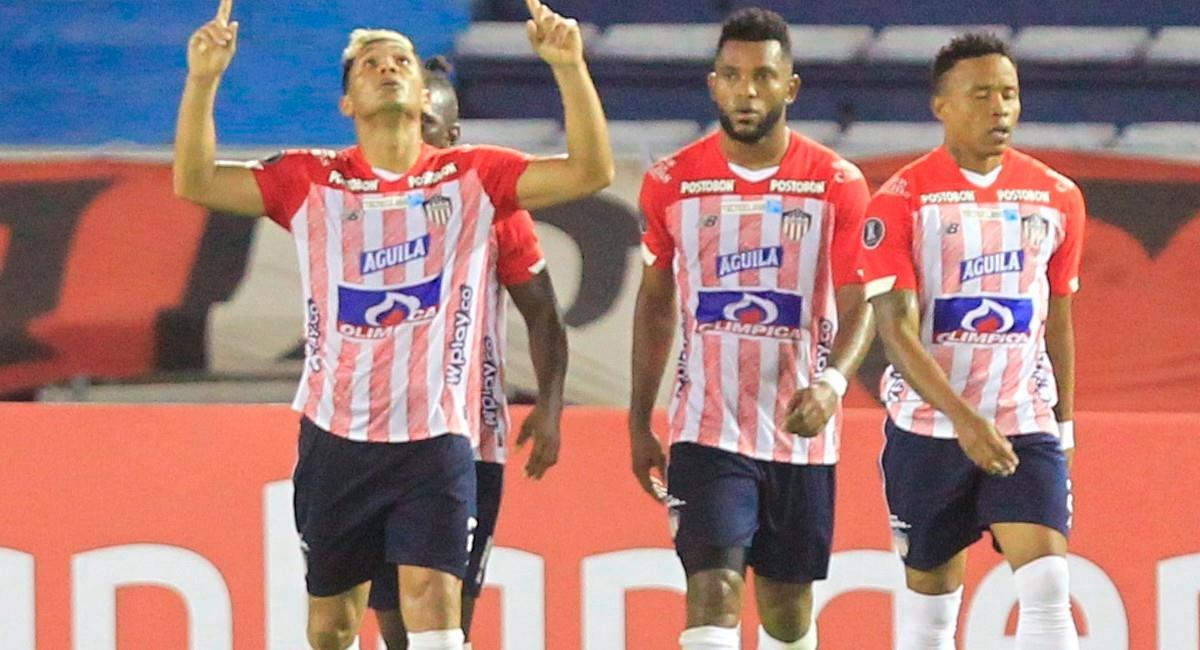 Teófilo Gutiérrez celebra en Copa Libertadores. Foto: EFE