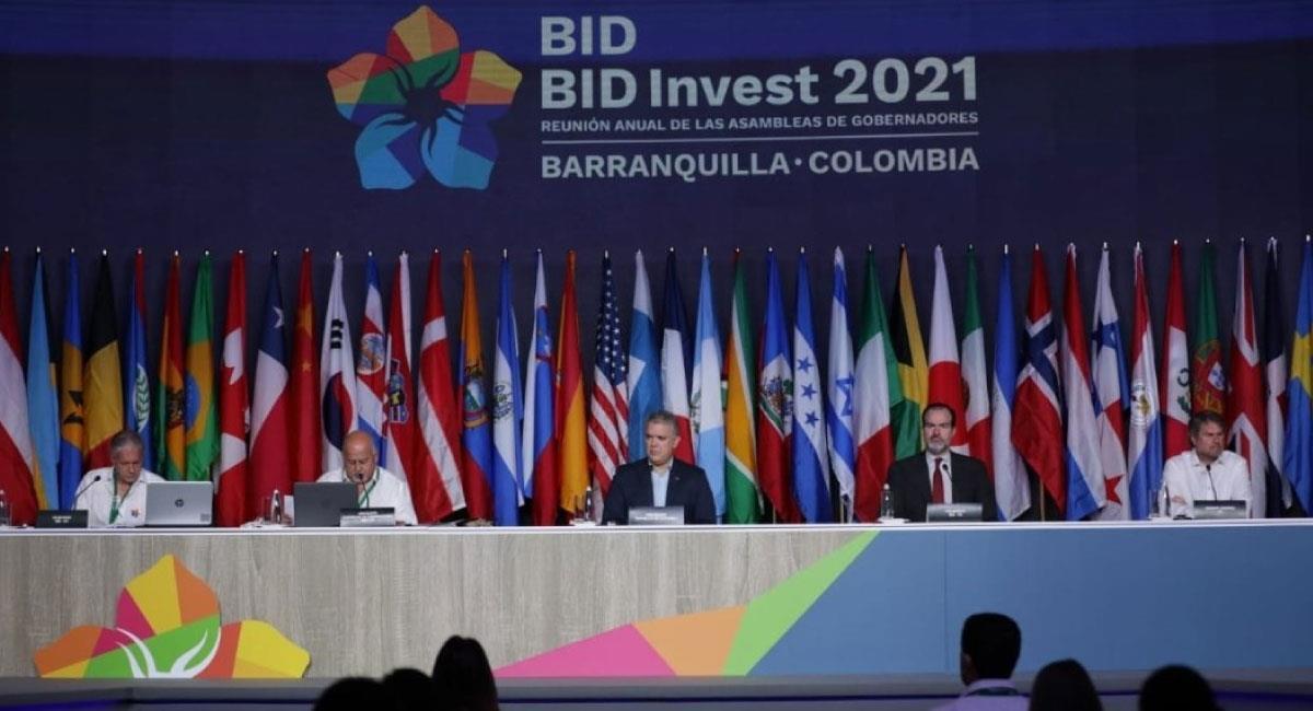 Reunión Anual de Gobernadores de el BID en Barranquilla. Foto: Twitter @MinHacienda
