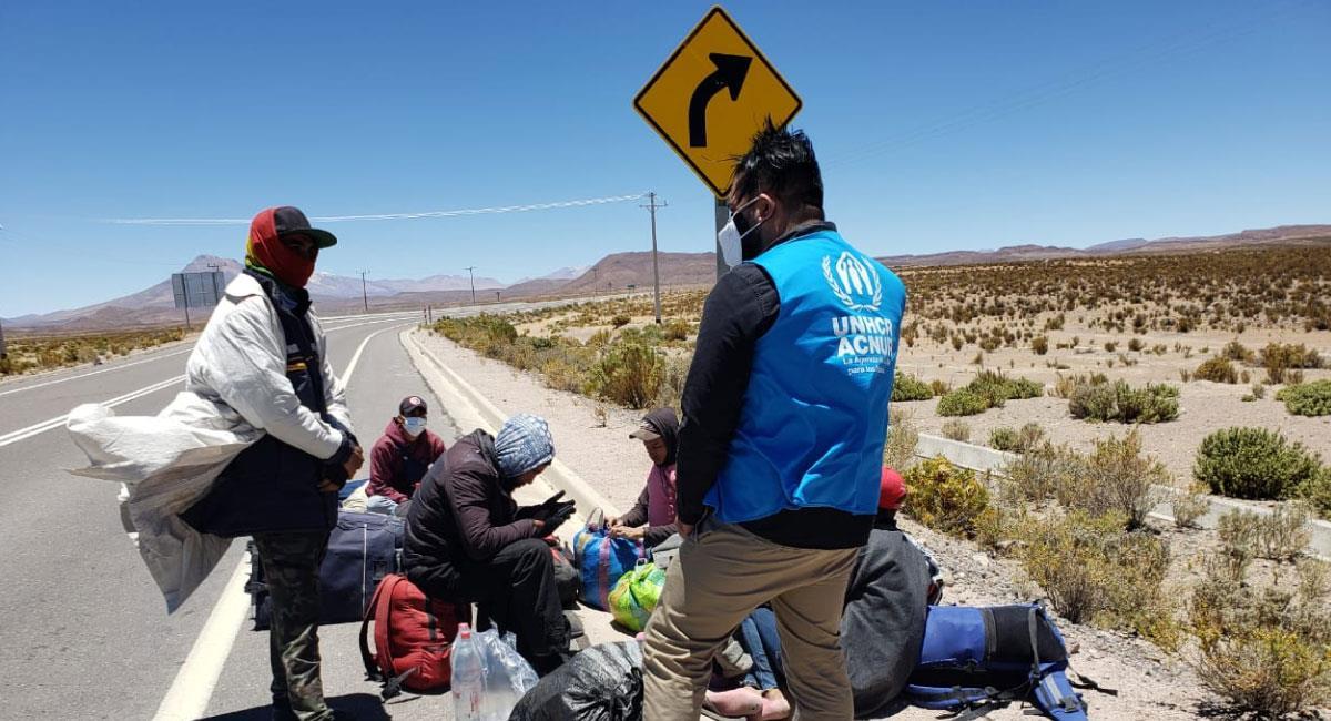 ACNUR invita a los colombianos a ser tolerantes con la migración. Foto: Twitter @ACNURSuramerica