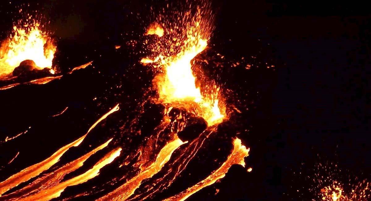 El volcán erupcionó muy cerca de Reykjavik, capital de Islandia. Foto: EFE