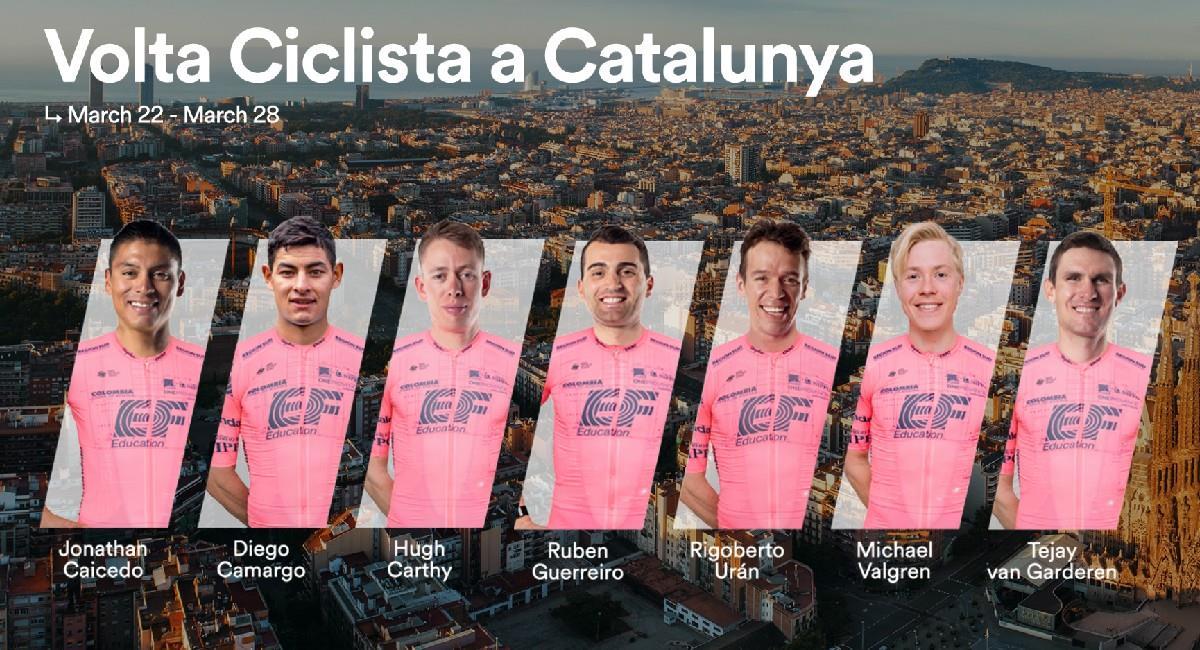 Rigoberto Urán presente en la Vuelta a Cataluña. Foto: Twitter @EFprocycling