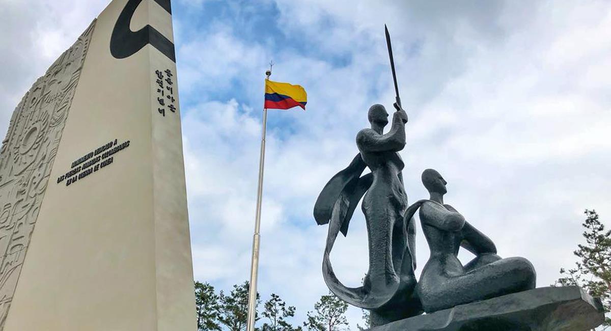 El Gyeongmyeong Park, también conocido como parque o plaza Colombia, es un homenaje surcoreano al Batallón Colombia. Foto: Facebook Colombian Abroad