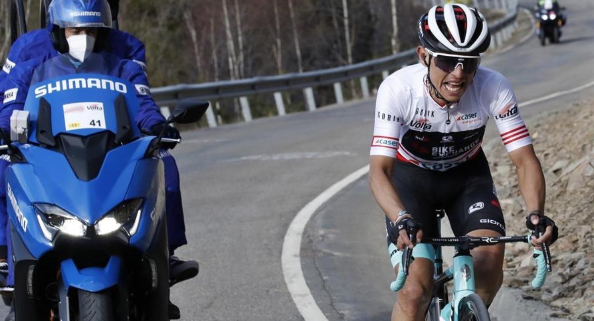 Esteban Chaves campeón de la montaña. Foto: EFE